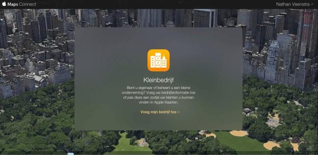 Aanmelden bedrijf in Apple Maps Connect