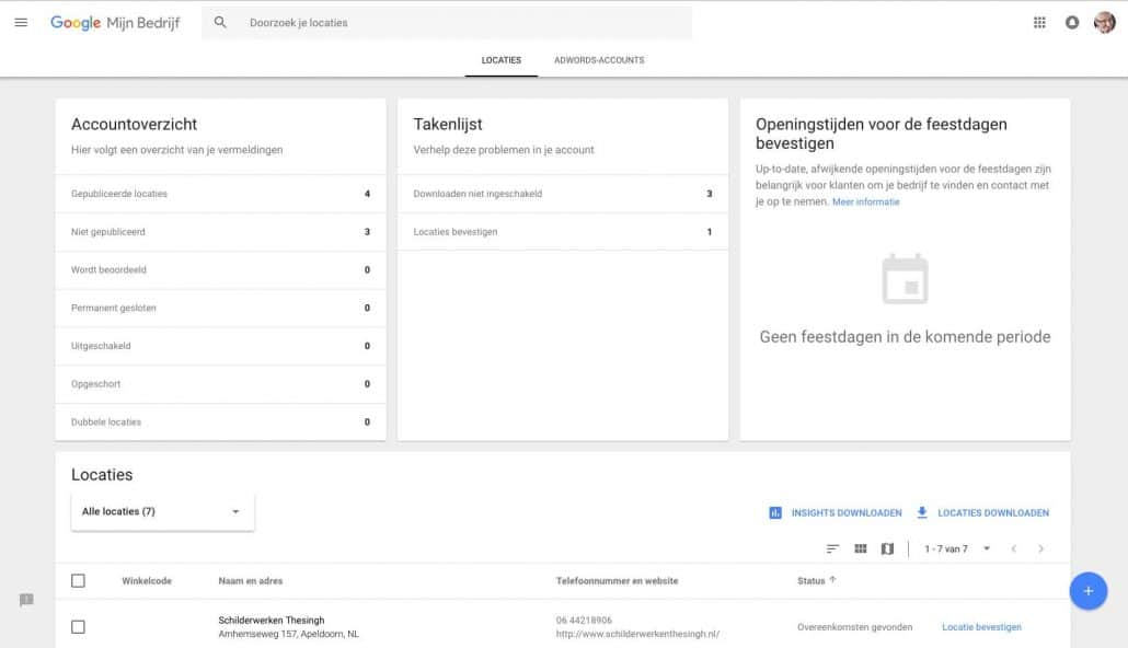 Jouw gratis website stap 1: log in op Google Mijn Bedrijf
