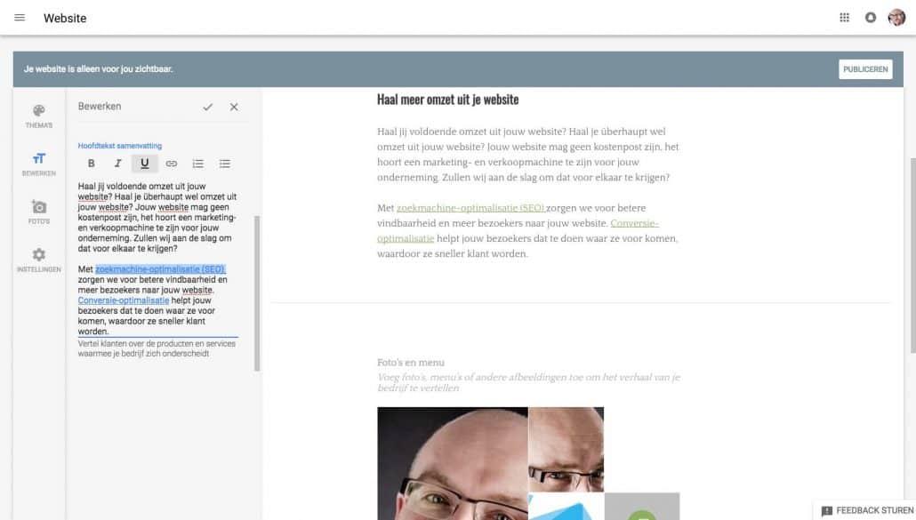 Jouw gratis website stap 10: de editor die iedereen kan gebruiken