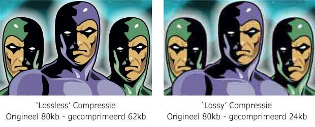 Afbeeldingen website optimaliseren lossy compressie