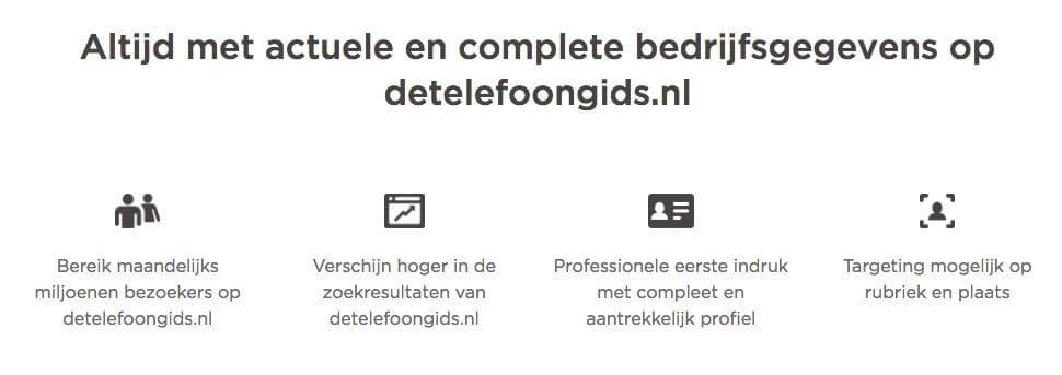 De redenen waarom je volgens DTG zou betalen voor een vermelding op detelefoongids.nl