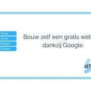 Bouw zelf een gratis website dankzij Google