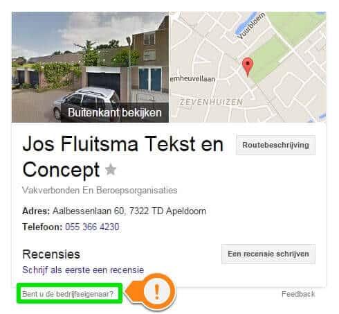 Verbeter je lokale vindbaarheid - claim je Google Mijn Bedrijf