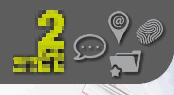 Screenshot van een hoofdmenu met een tekstballonnetje, map, vingerafdruk en een pin zoals je die op digitale kaarten ziet.