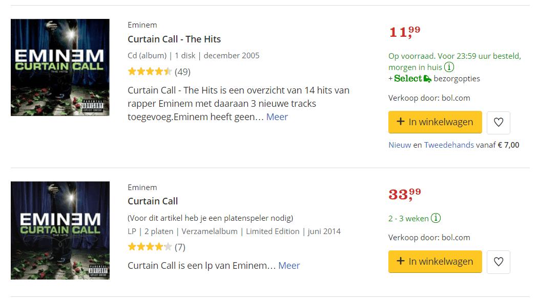 Bol.com heeft niet alles op voorraad te hebben en profiteert zo van longtail