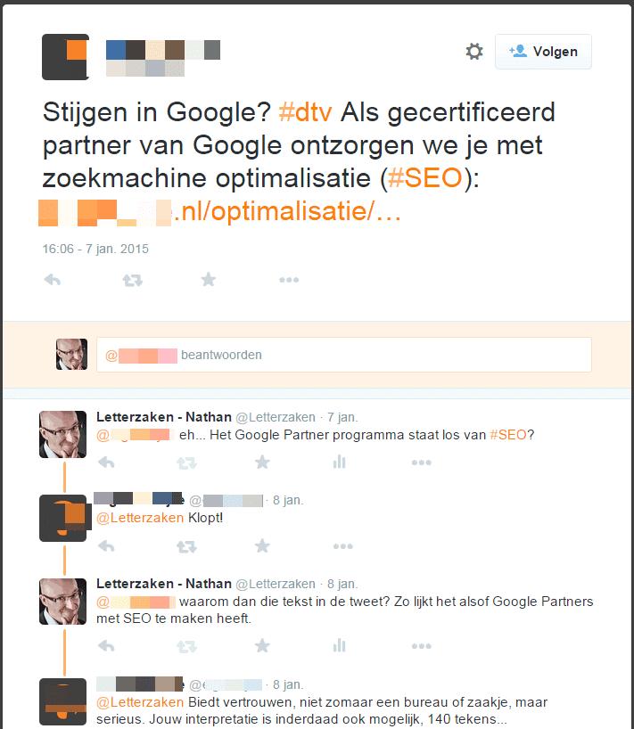 Google Partners heeft niets te maken met zoekmachine-optimalisatie