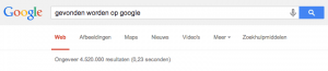 Gevonden worden op Google