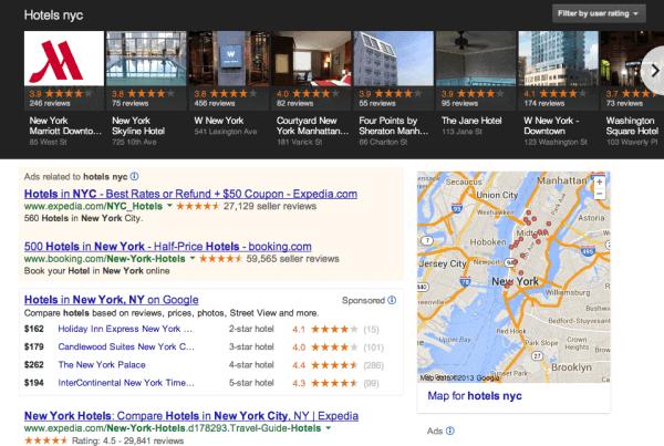 Google Carousel in zoekresultaten