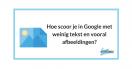 Hoe scoor je in Google met weinig tekst en vooral afbeeldingen?