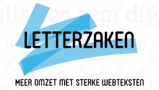Letterzaken logo met tagline op website