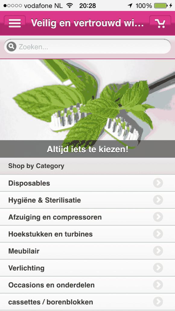 Aparte mobiele website De Boer Dental