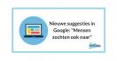 """Nieuwe suggesties in Google: """"Mensen zochten ook naar"""""""
