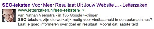 Oude titel zoekresultaat SEO-teksten Google onderstreept
