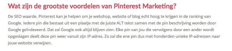 SEO-waarde van Pinterest? Onderbouw die claim eens...