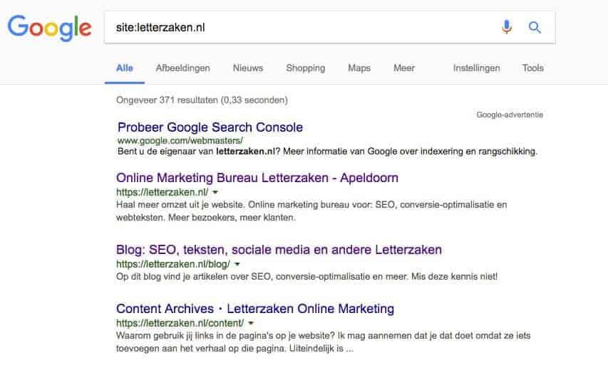 site:letterzaken.nl in Google