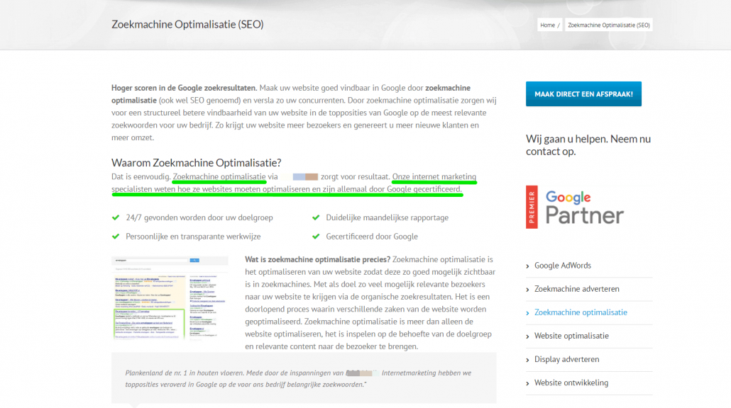 Intenetmarketingbureau zegt dat SEO-specialisten Google certificaten hebben