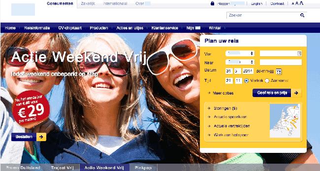 Op ns.nl is geen tagline te vinden en de homepagina zelf helpt je ook niet echt aan duidelijkheid.