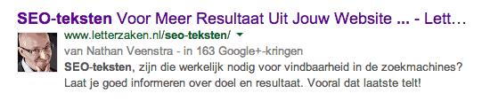 Titel zoekresultaten Google nieuw 2014 - Letterzaken