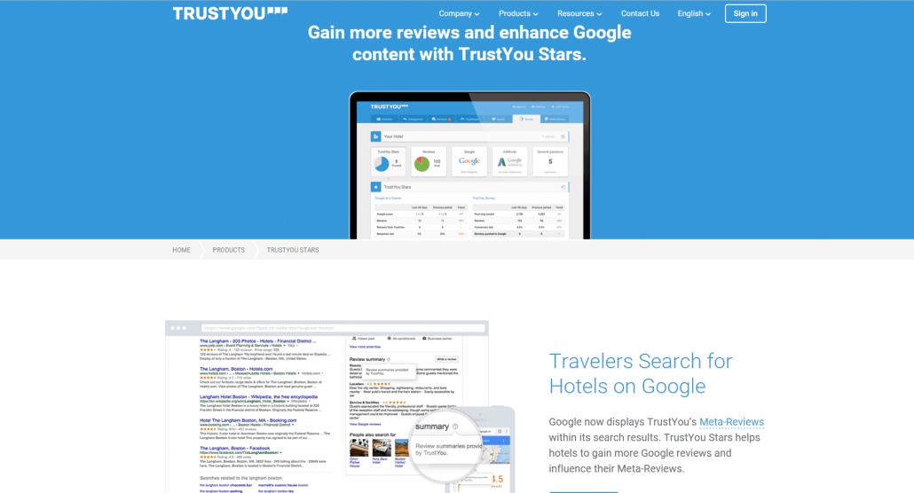 TrustYou is het bedrijf achter de samenvattingen van de reviews in Google