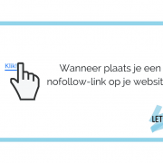 Wanneer plaats je een nofollow-link op je website?