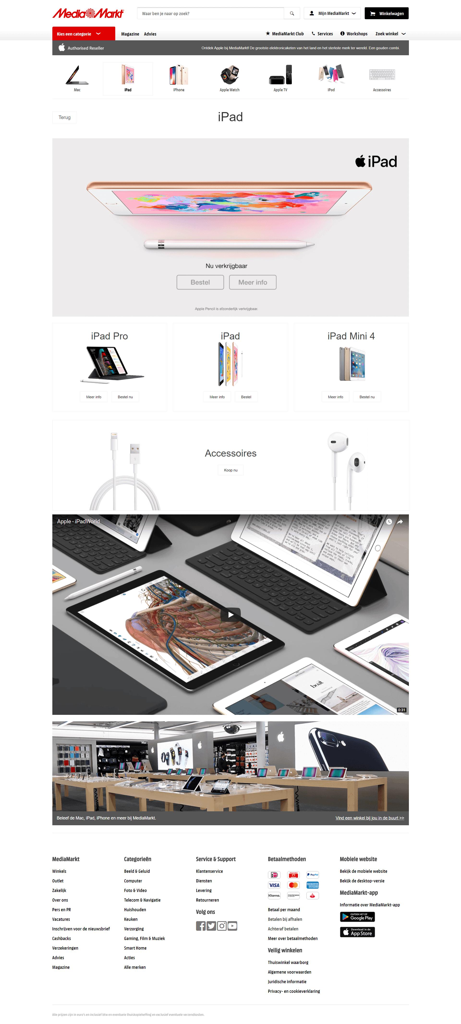 Vooral afbeeldingen op webpagina iPad kopen bij MediaMarkt