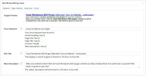 Yoast WordPress SEO Plugin - Pagina Analyse