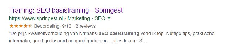 Onder de blauwe link in Googles organische zoekresultaten staat geen URL meer, maar een kruimelpad.