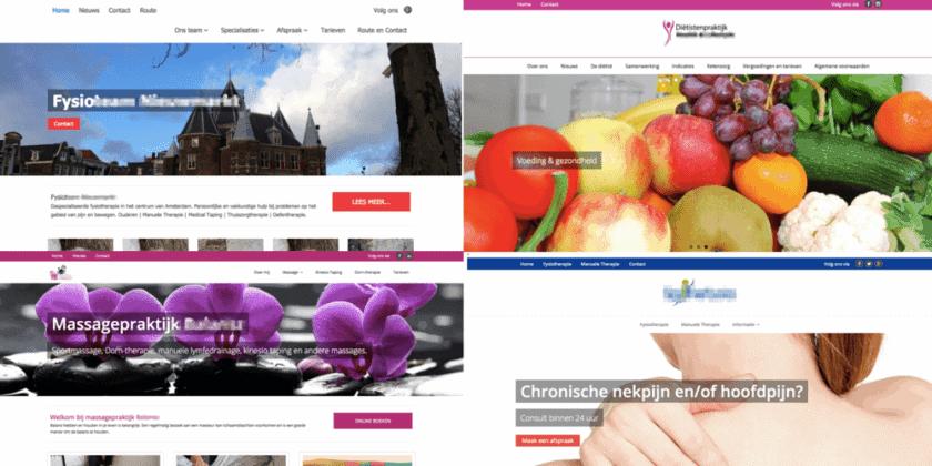 4 websites van NS Marketing & Sales op het Minamaze pro theme