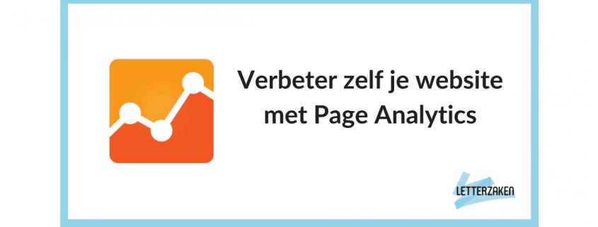 Verbeter zelf je website met Page Analytics