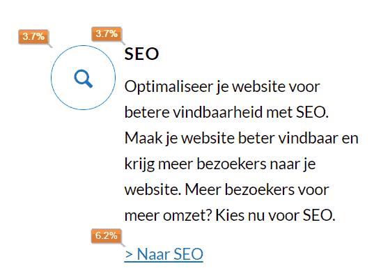 Verschillende klikpercentages voor dezelfde webpagina