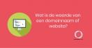 Wat is de waarde van een domeinnaam of website?