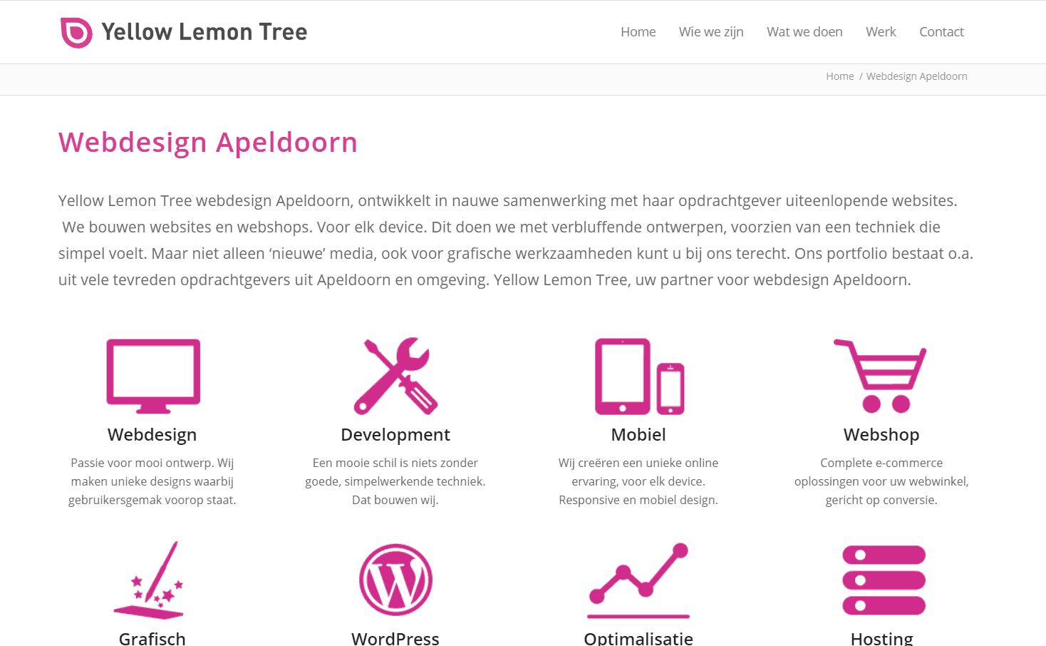 Verkeerd inzetten van SEO: webdesigner zit niet in Apeldoorn, maar doet wel alsof dat zo is