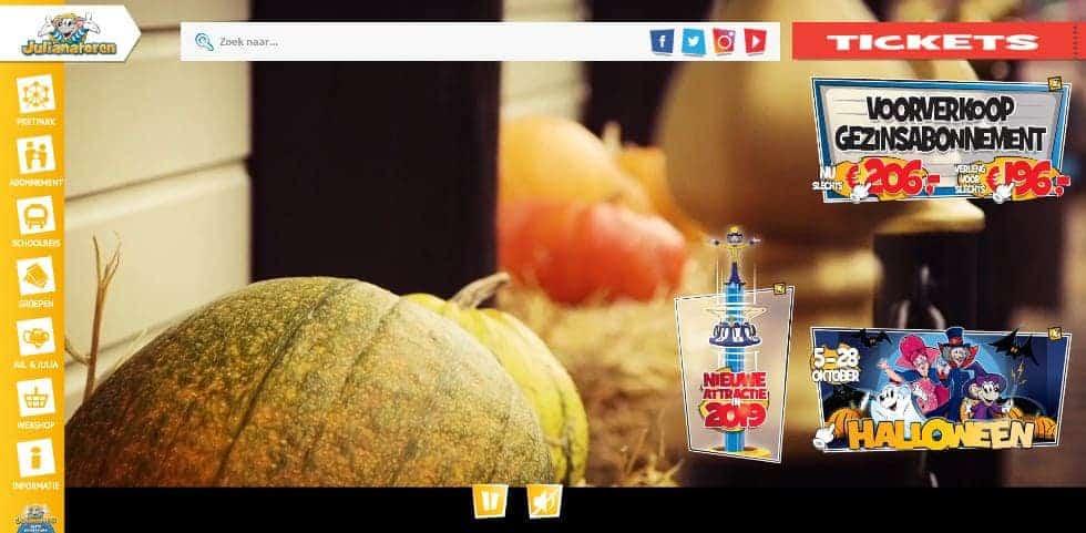 Deze website van de Julianatoren is gemaakt door een gerenommeerd reclamebureau. Maar hoe makkelijk vind je wat je zoekt?